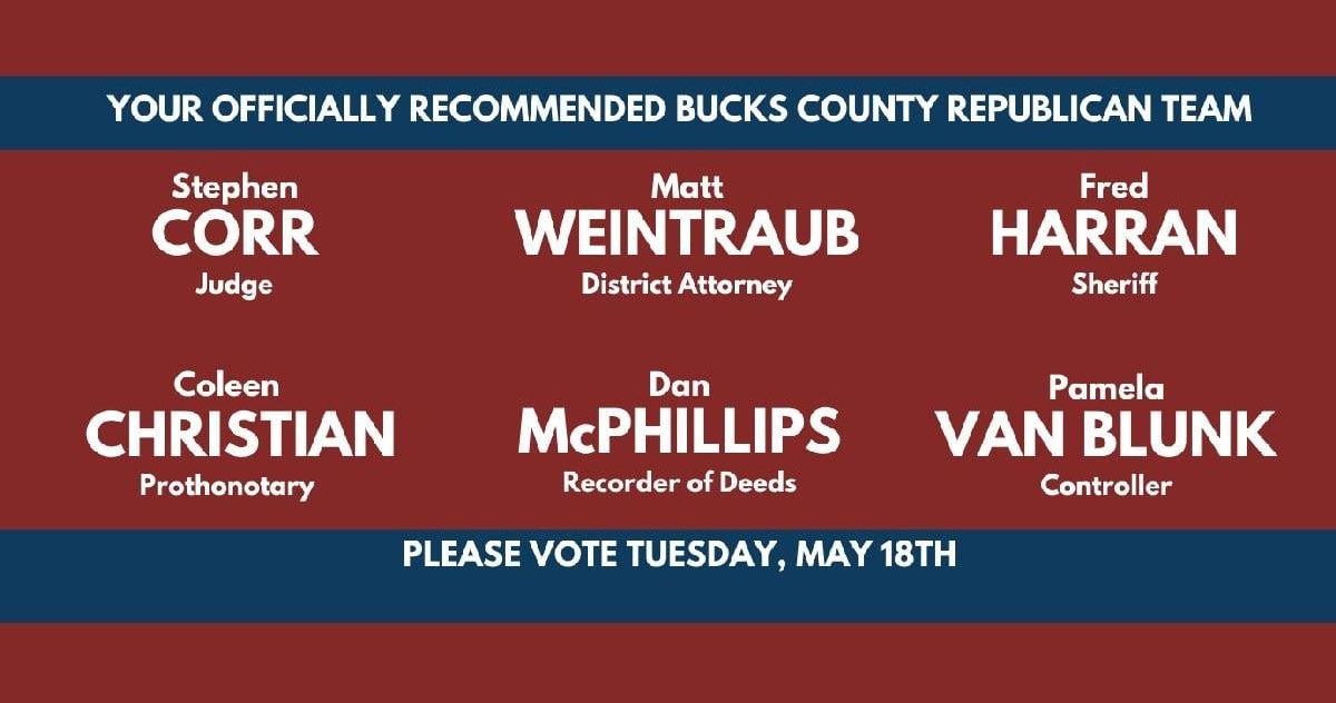 Recommended Bucks County Republican Team